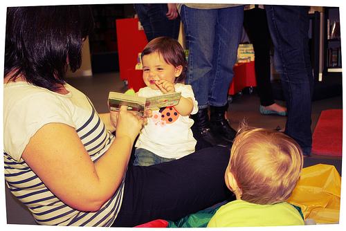 Desfrutando da lectura nas nosas Bebetecas