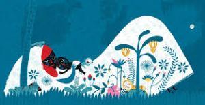 Ilustración do libro Duerme, duerme negrito