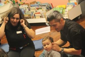 Momento da presentación no Bebencontro da Biblioteca Infantil e Xuvenil