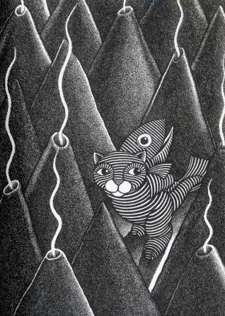 Gato y pez. ¿Dónde van las olas?. Joan Grant. Barcelona: Libros del Zorro Rojo, 2013