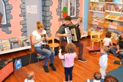 Actuación de Migallas Teatro na biblioteca Infantil