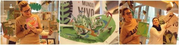 """As bibliotecarias Violeta e Lupe amósannos algunhas das recomendacións """"naturais"""" do Mundo Vivo"""