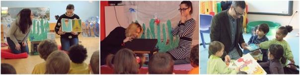 O persoal da Bebeteca visita as Escolas Infantís da contorna