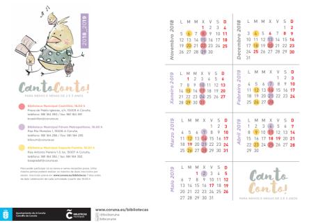 cantoconto calendario 2018-19